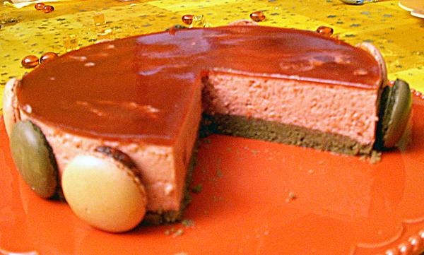 bavarois framboises-chocolat