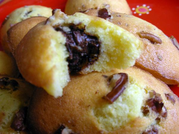 madeleines choco-noix